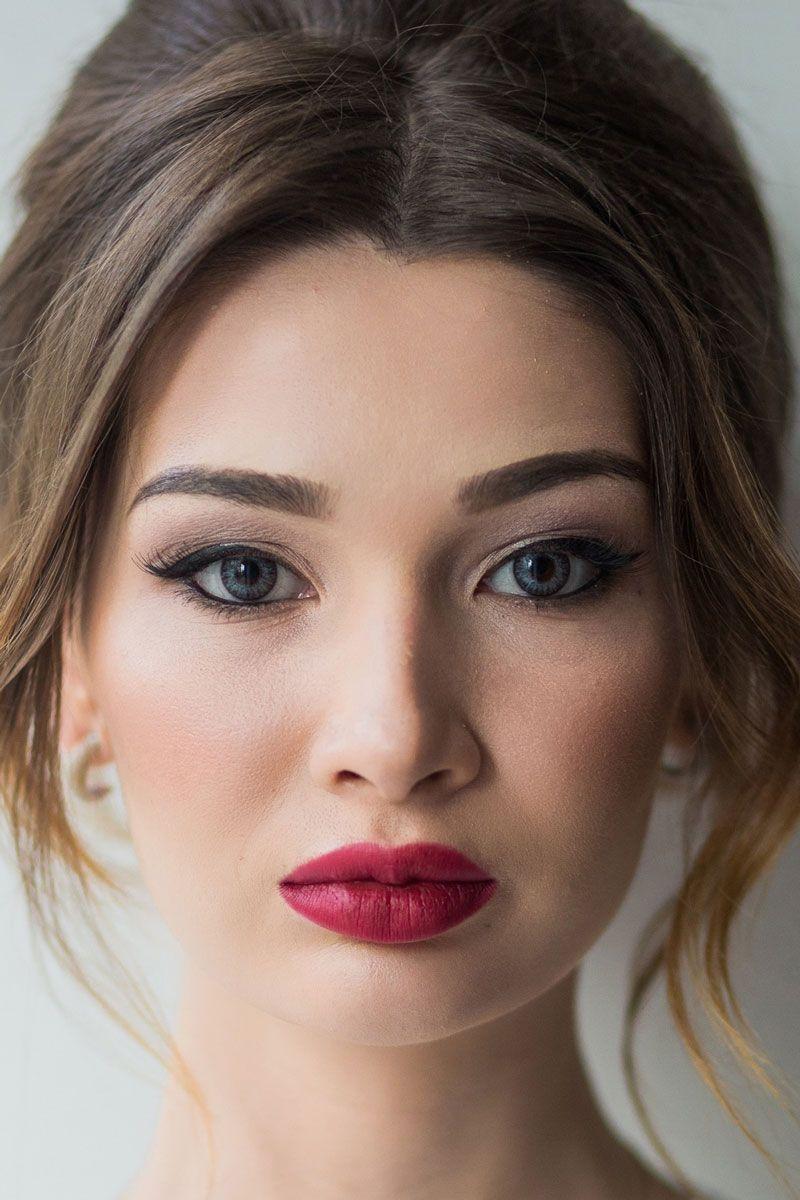 макияж невесты глаза