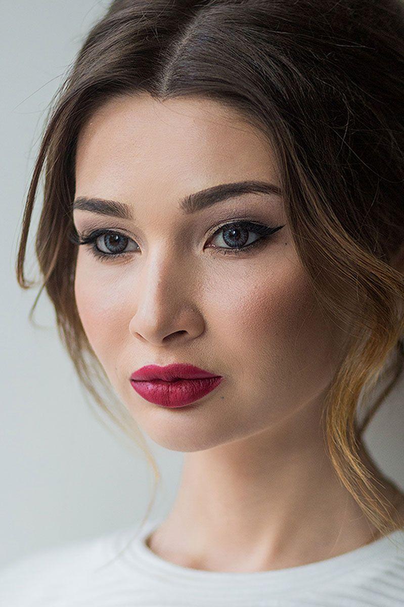 макияж невесты губы