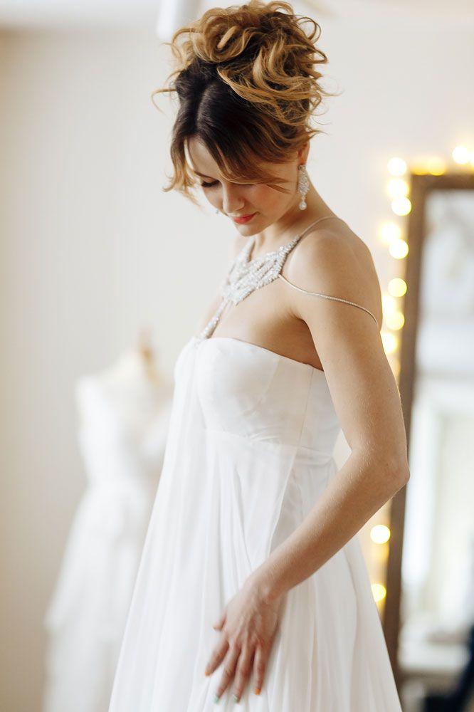 Александра Пацкевич в свадебном платье