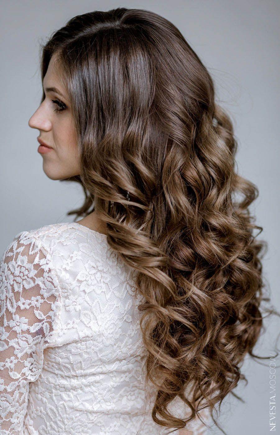 прическа локоны волосы