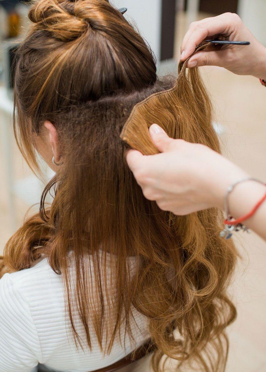 Причёски с накладными волосами своими руками