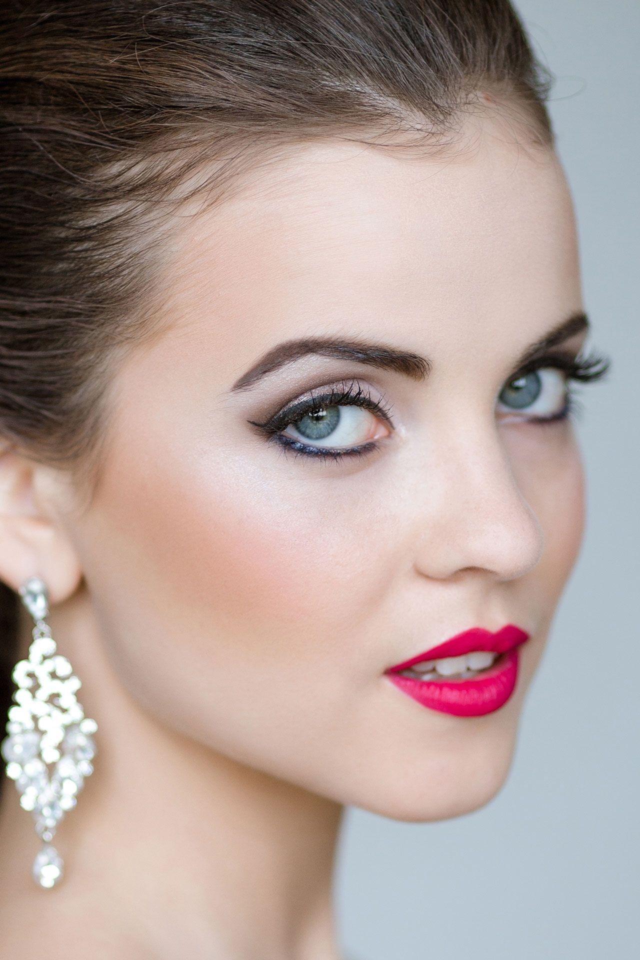 макияж невесте на свадьбу, акцент на губы