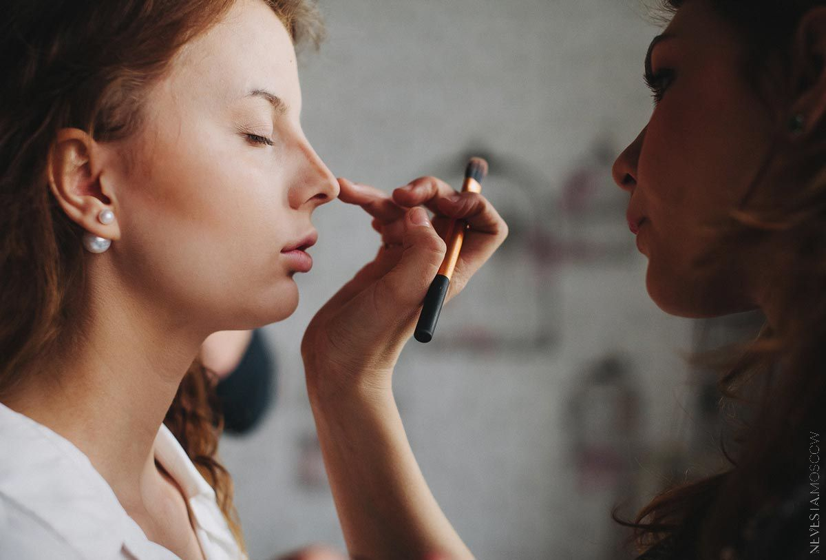 Backstage репетиция макияж