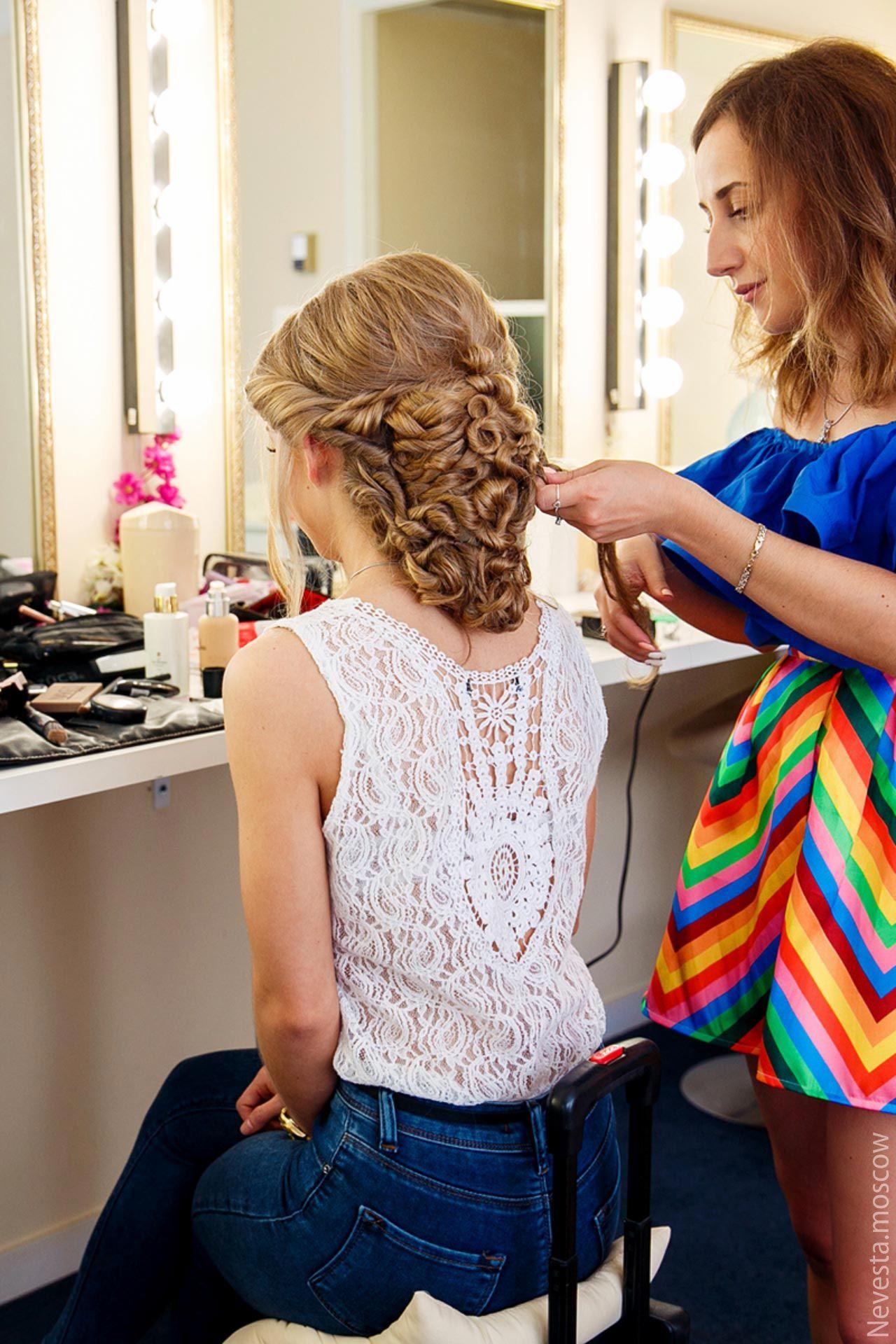 макияж и прическа на свадьбу от стилиста