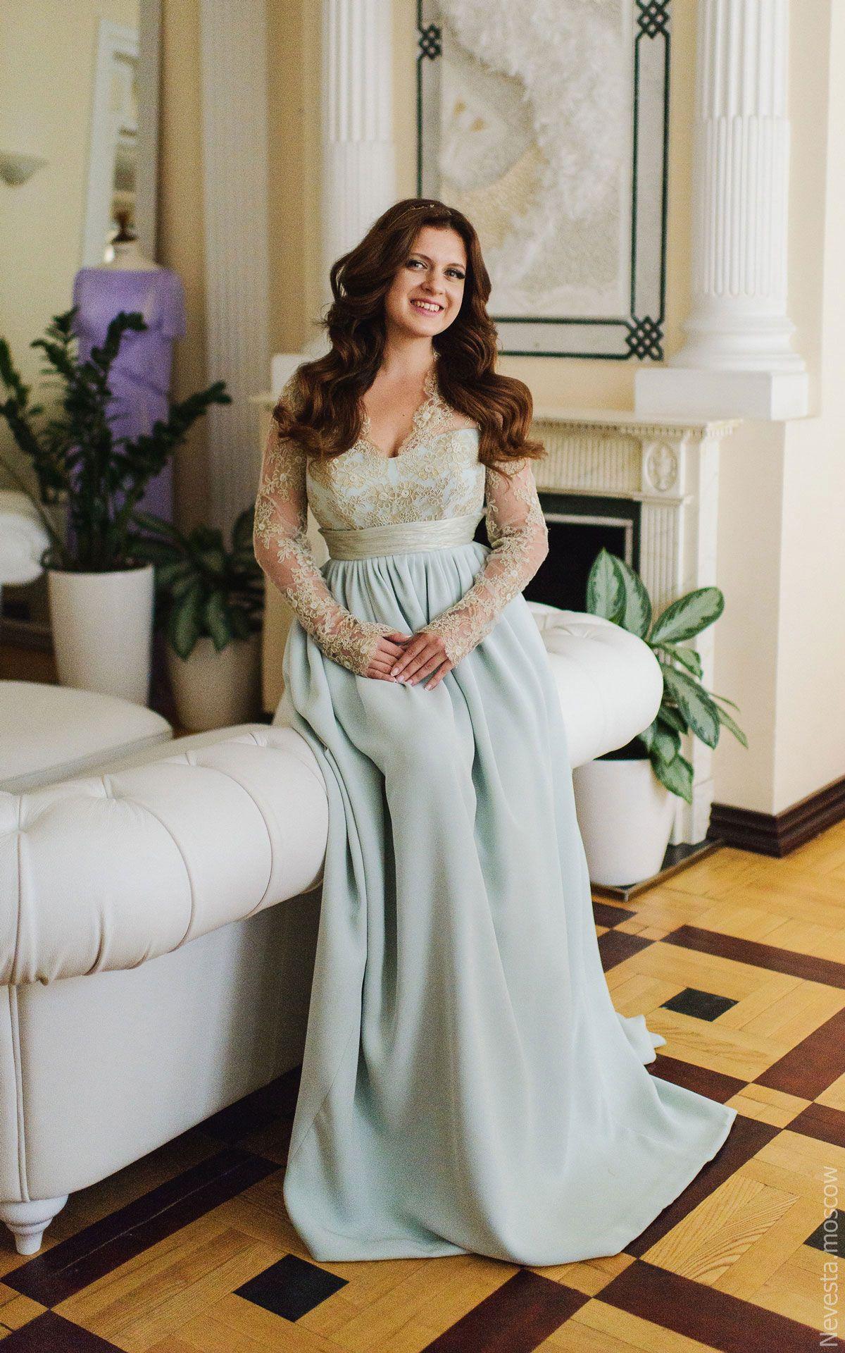 Анастасия Денисова примеряет свадебное платье фото 9