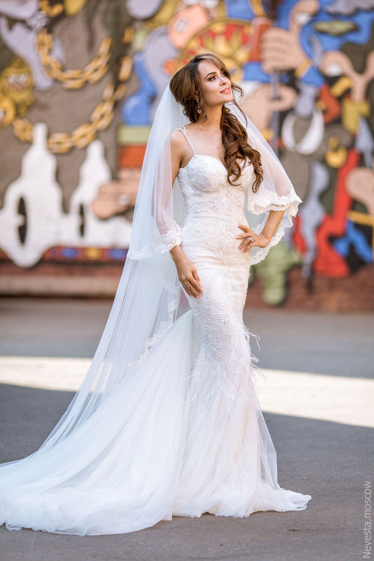 Актриса Анна Калашникова в образе белого лебедя фото 33