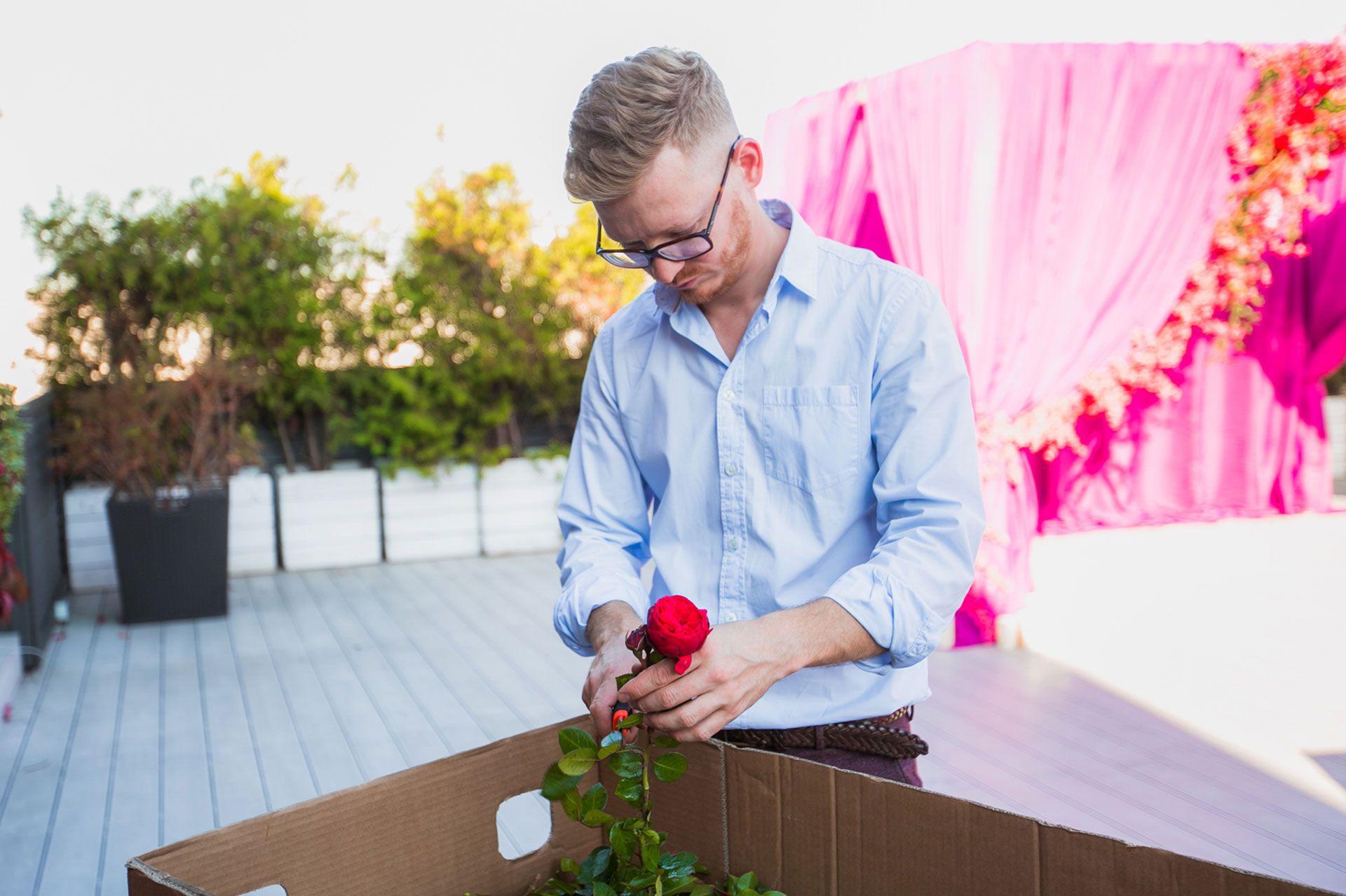 подготовка флористом зоны регистрации