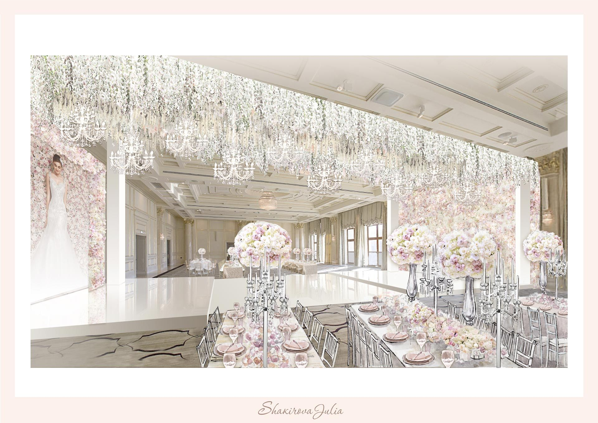 Студия декора Юлии Шакировой, цветочная свадьба, фото 2