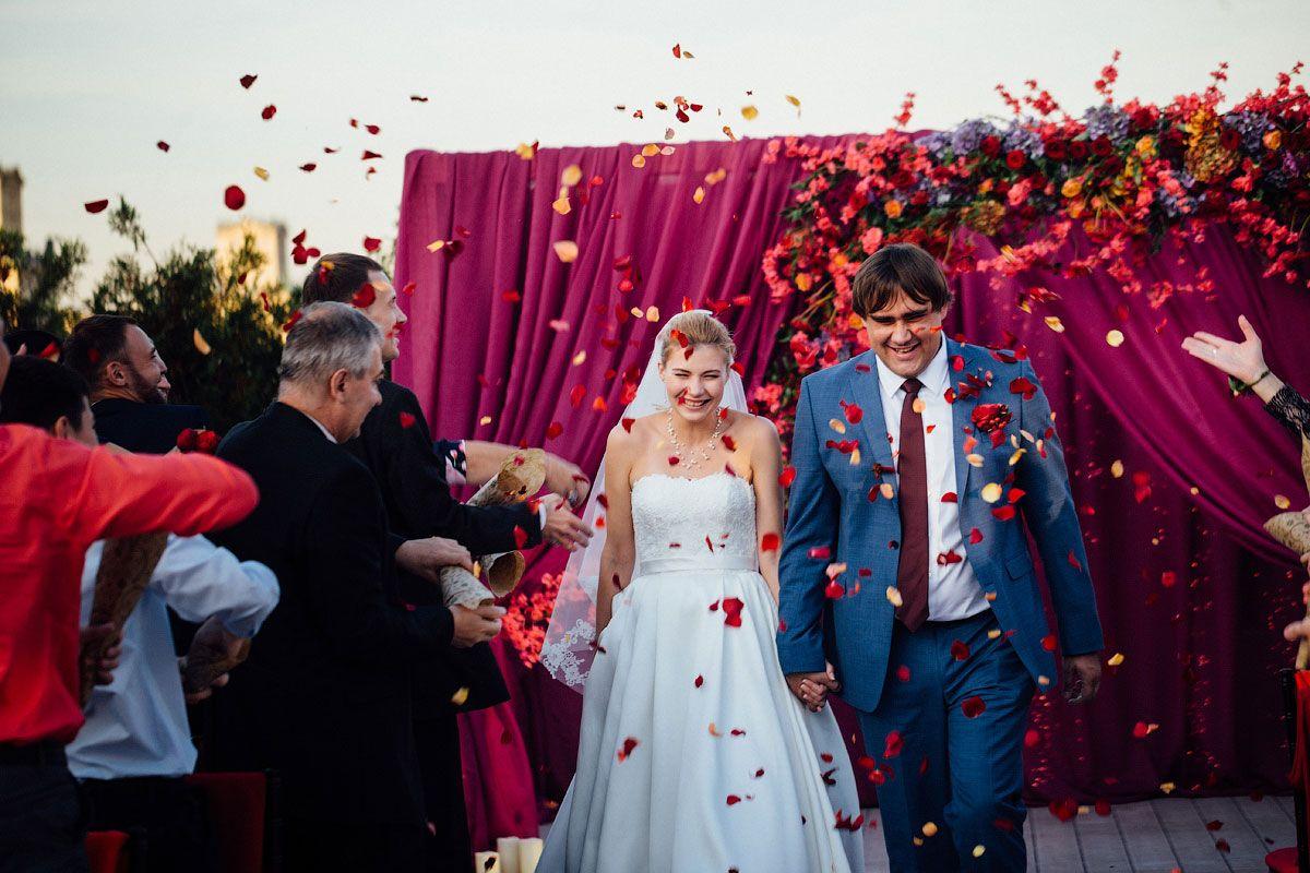 Яркая осенняя свадьба от агентства Nova Wedding фото 7
