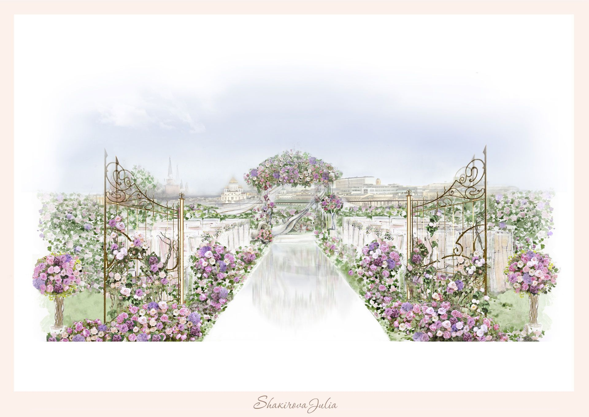 Студия декора Юлии Шакировой, цветочная свадьба