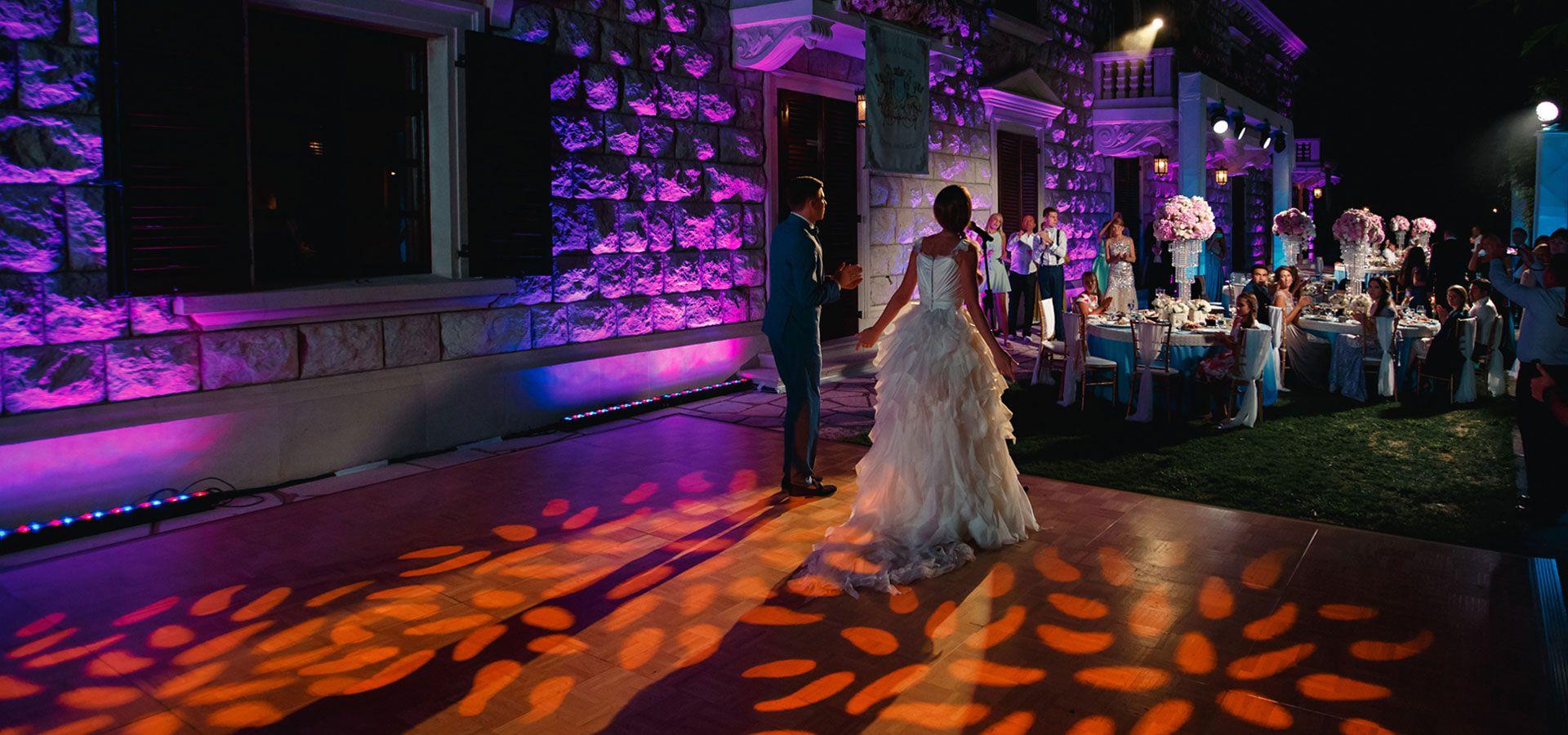 Организатор Варвара Перегудова: световое оборудование на свадьбе фото 18