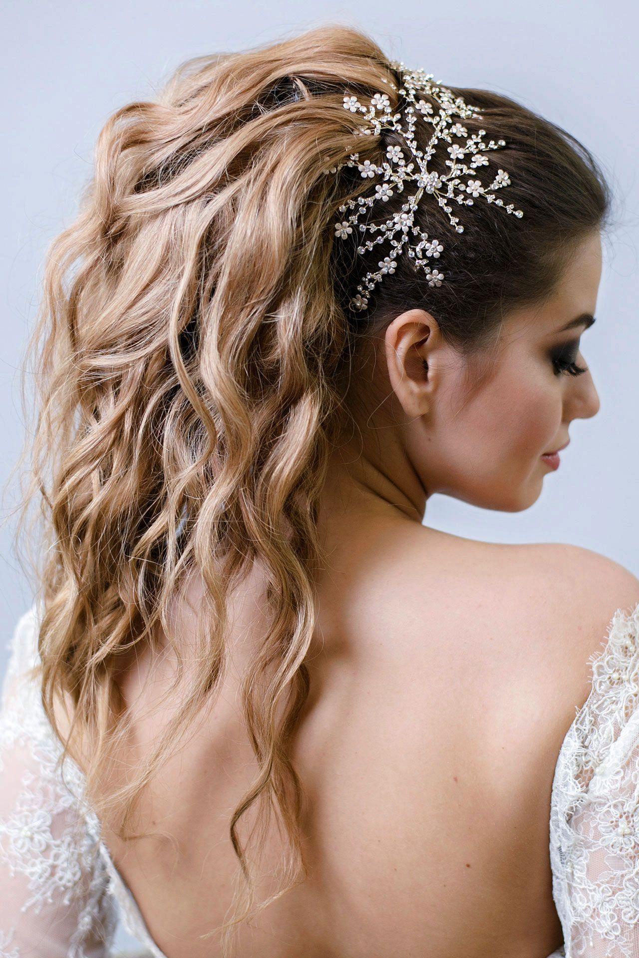 пышный хвост прическа невесты