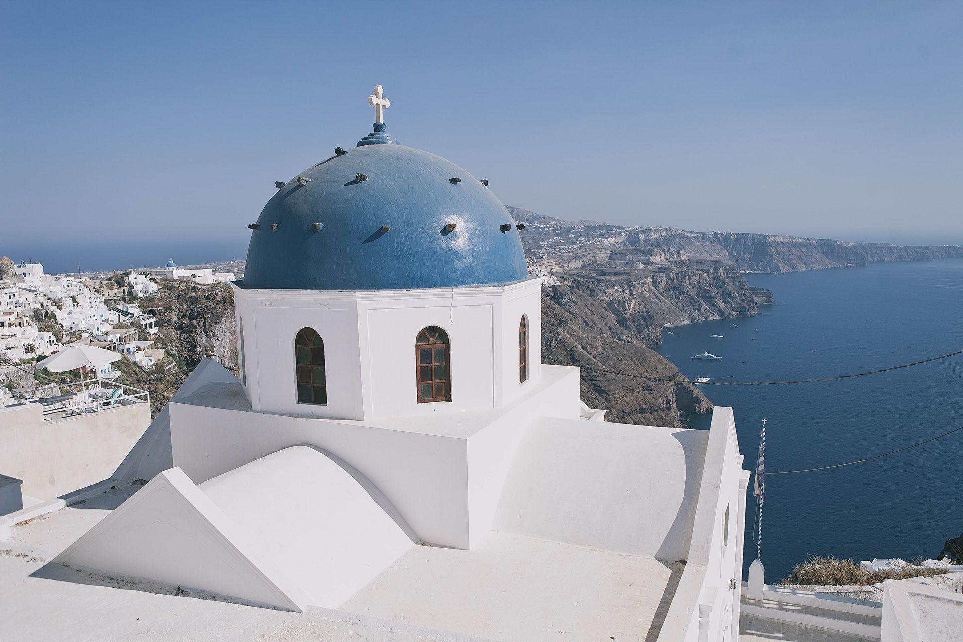 Греческий остров Санторини, свадьба за границей, фото 4