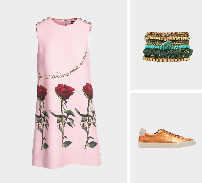 Образ для фотосессии: сочетаем платья с кедами фото 1