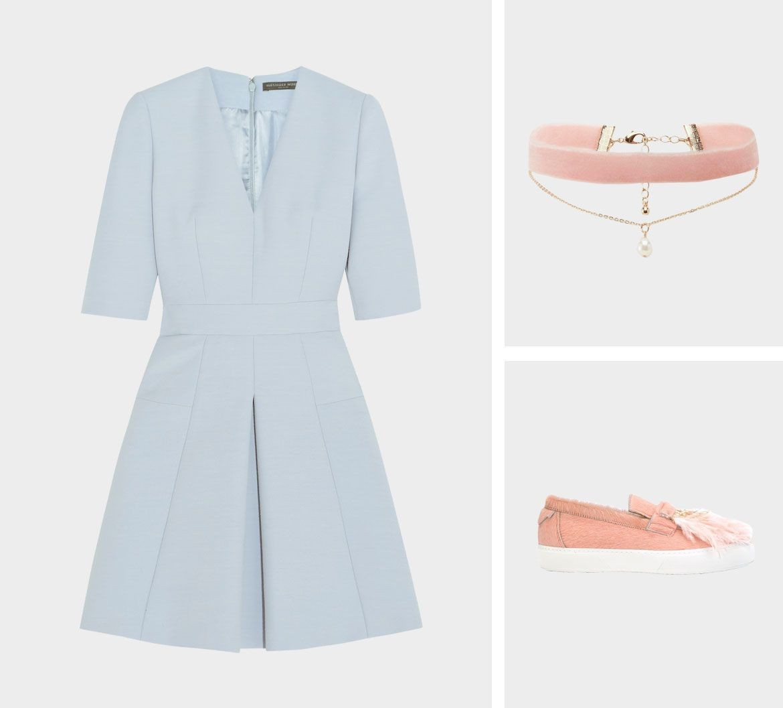 Образ для фотосессии: сочетаем платья с кедами фото 2