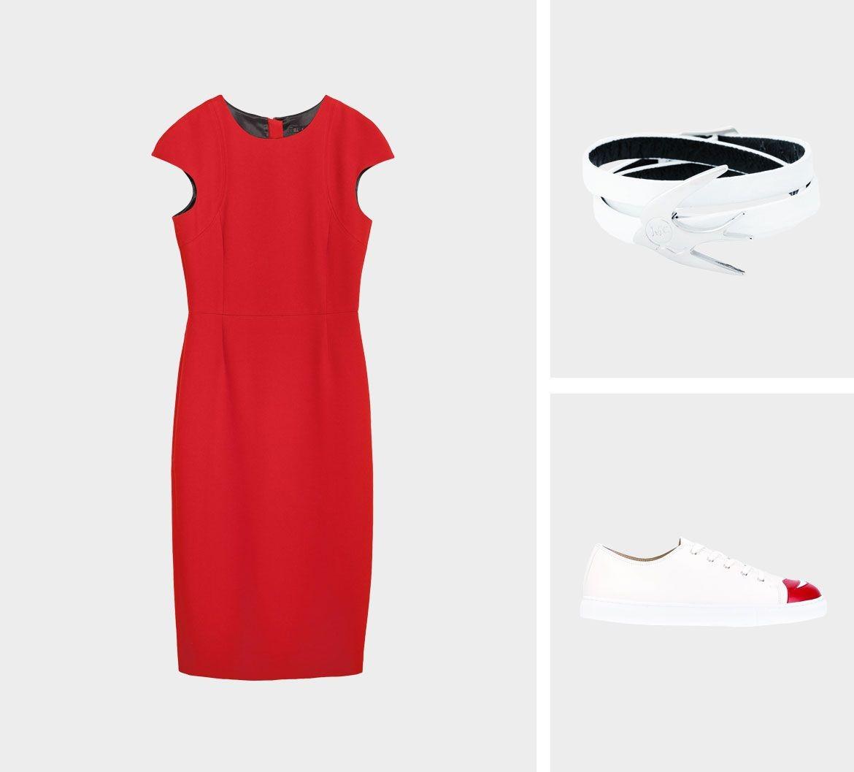 Образ для фотосессии: сочетаем платья с кедами фото 5