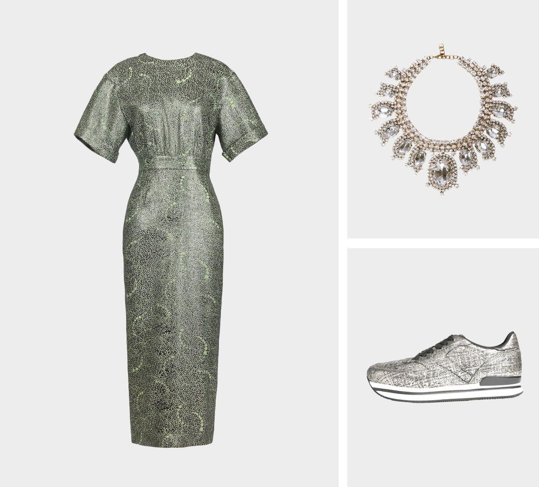Образ для фотосессии: сочетаем платья с кедами фото 6