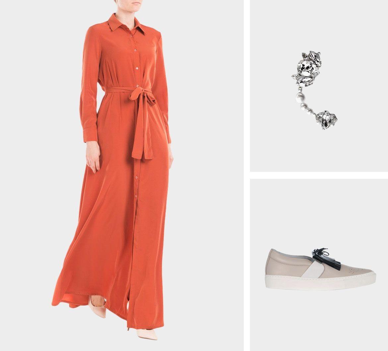 Образ для фотосессии: сочетаем платья с кедами фото 7