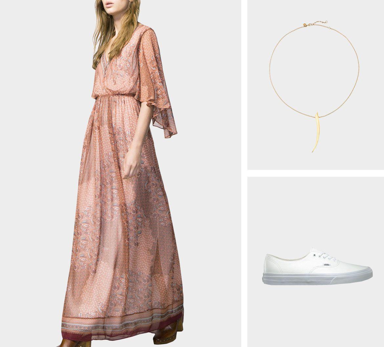 Образ для фотосессии: сочетаем платья с кедами фото 8