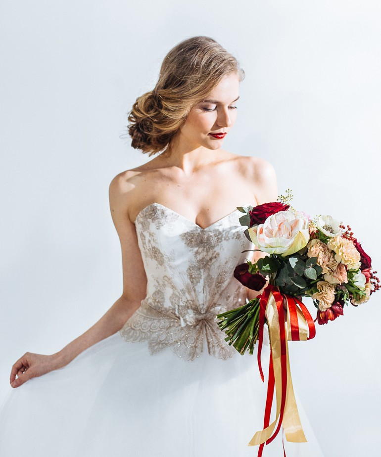 Букет свободной формы для невесты фото 4