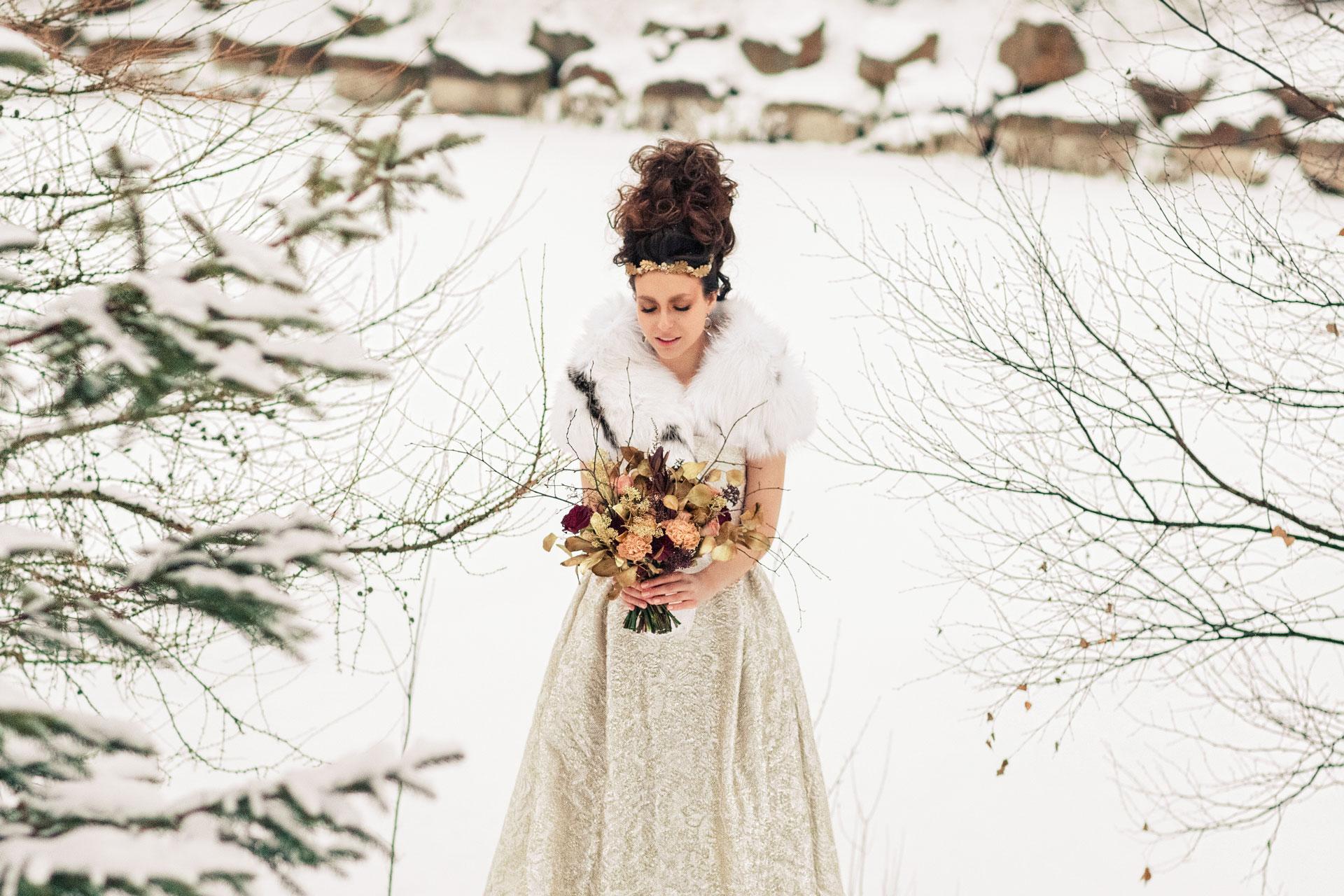 Современное барокко, образ невесты, фото 6