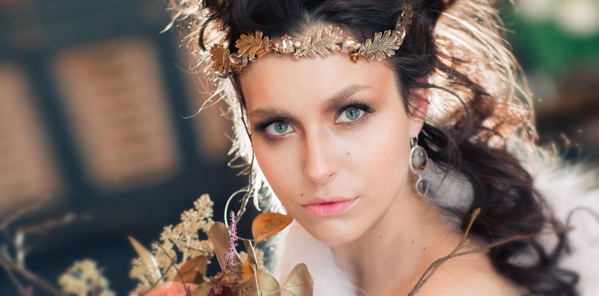 Современное барокко, образ невесты, фото 9