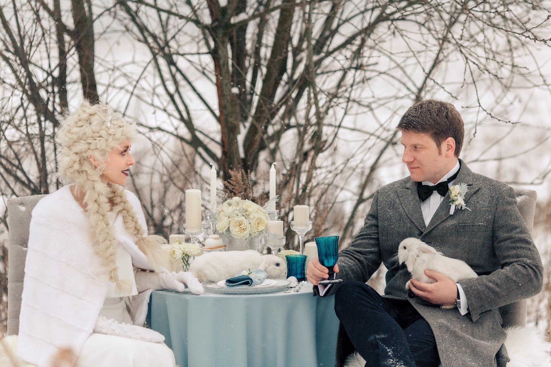 Снежная королева, свадебный образ фото 3