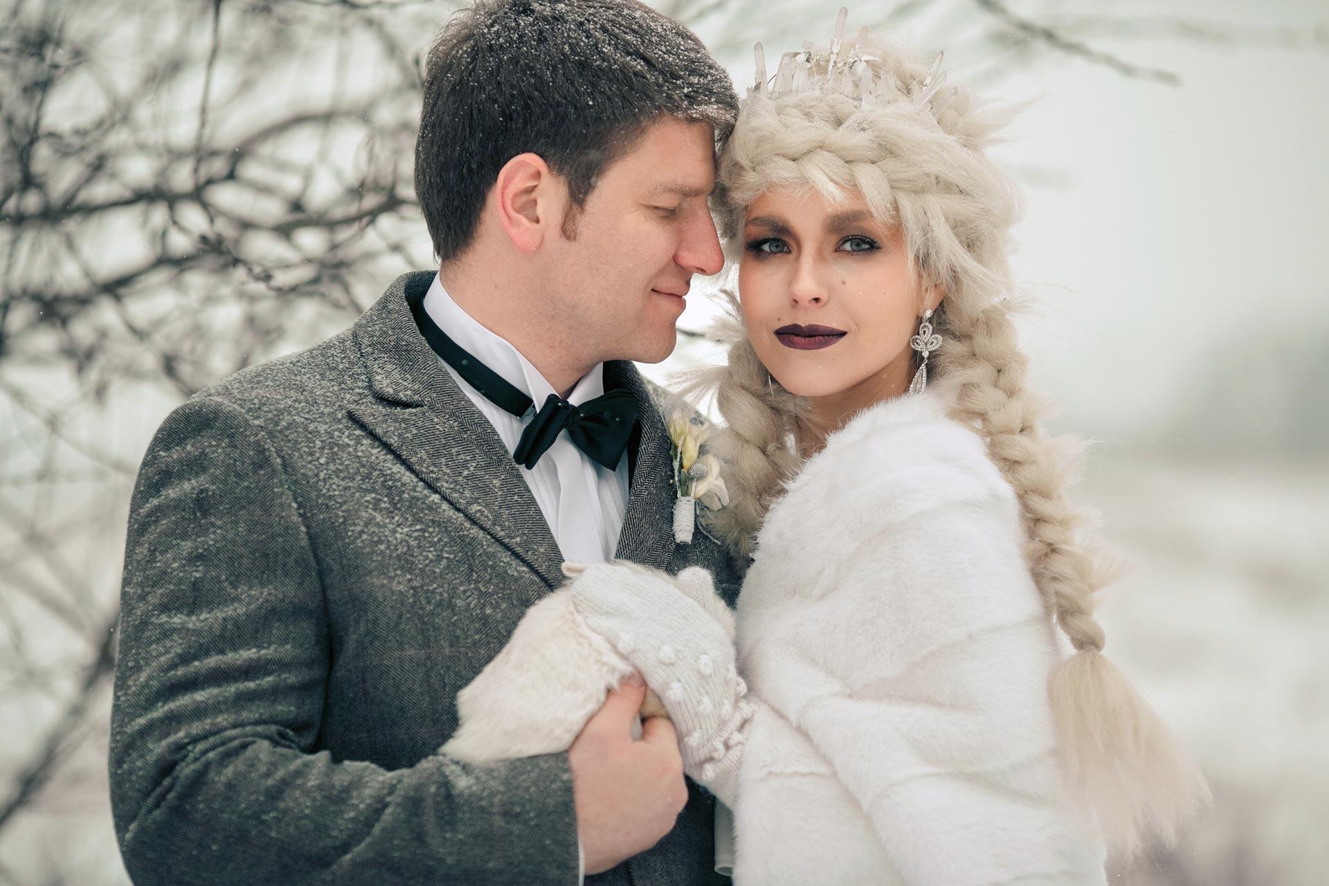 Снежная королева, свадебный образ фото 4