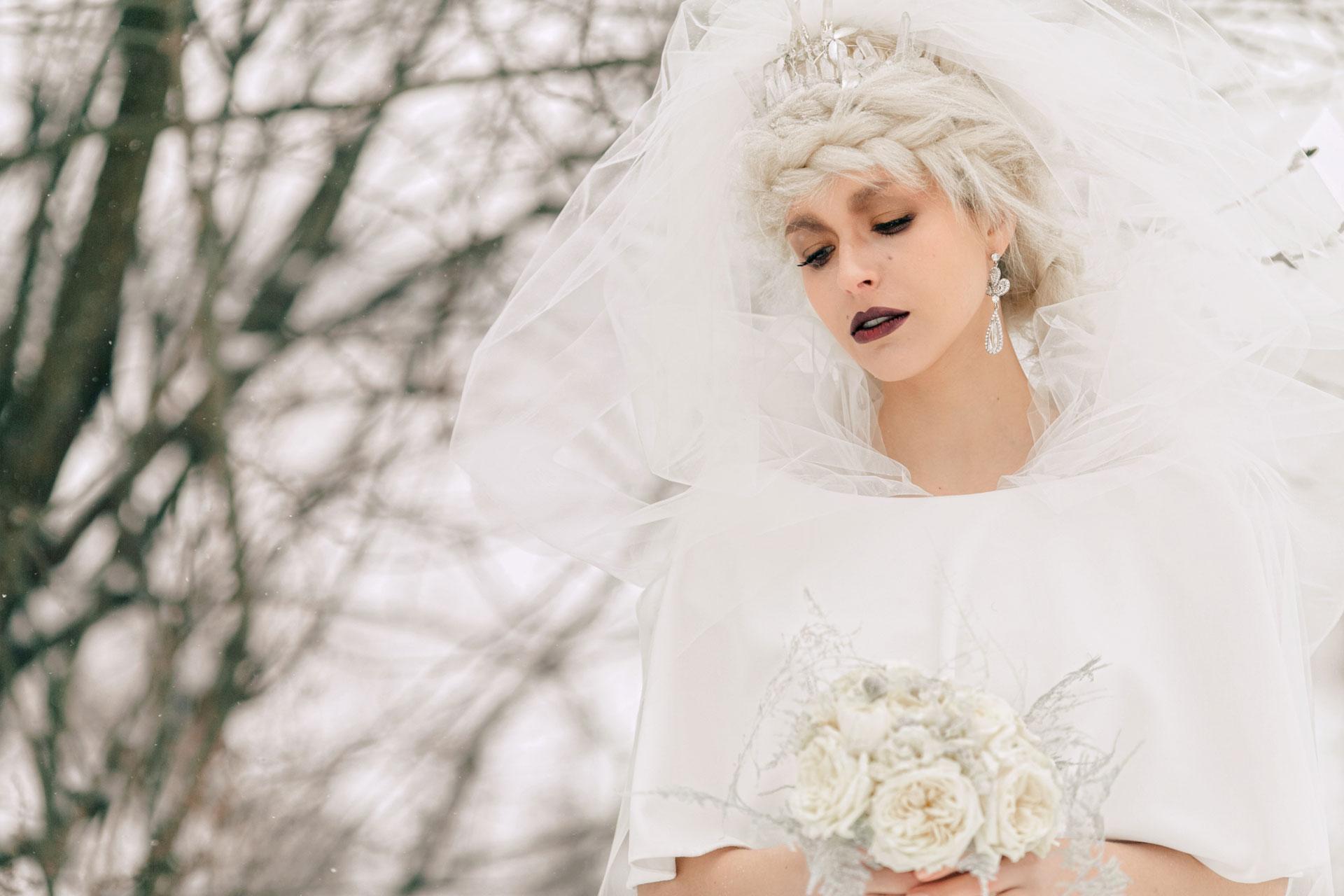 Снежная королева, свадебный образ фото 2