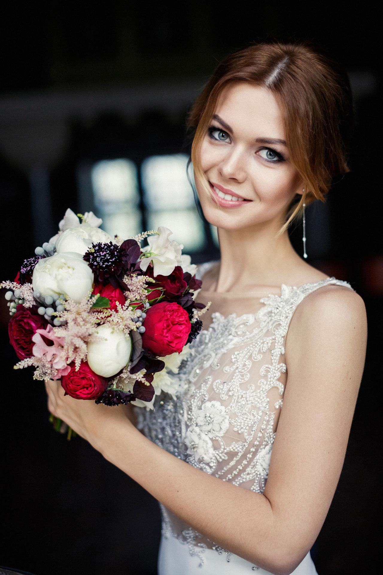 В цвете марсала. Свадьба Тимура и Екатерины фото 19