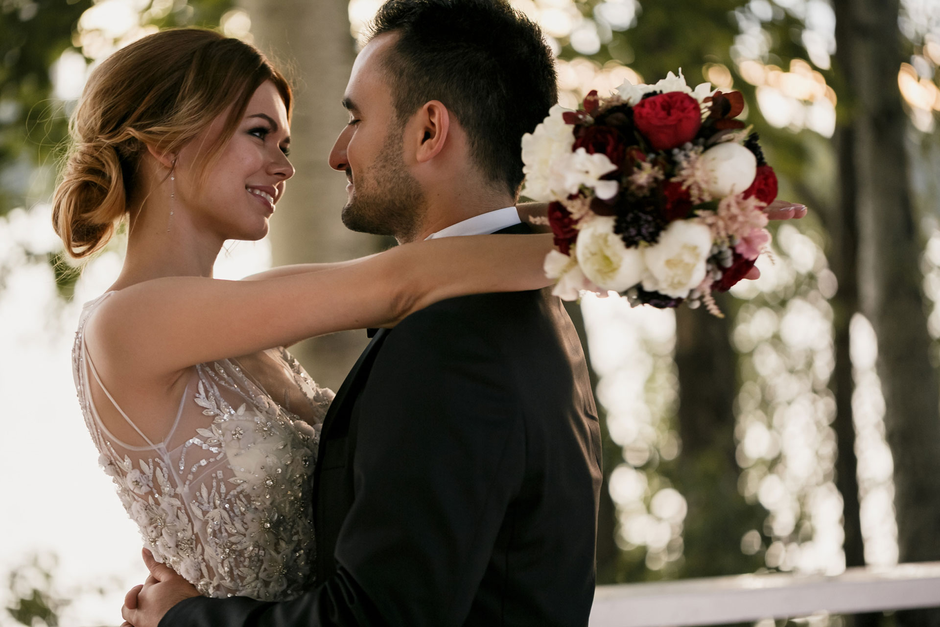 В цвете марсала. Свадьба Тимура и Екатерины фото 16