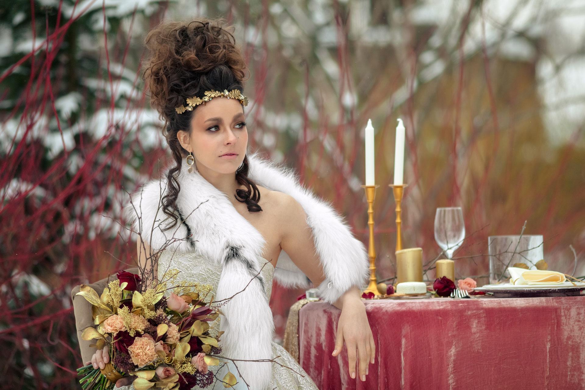 Современное барокко, образ невесты, фото 5