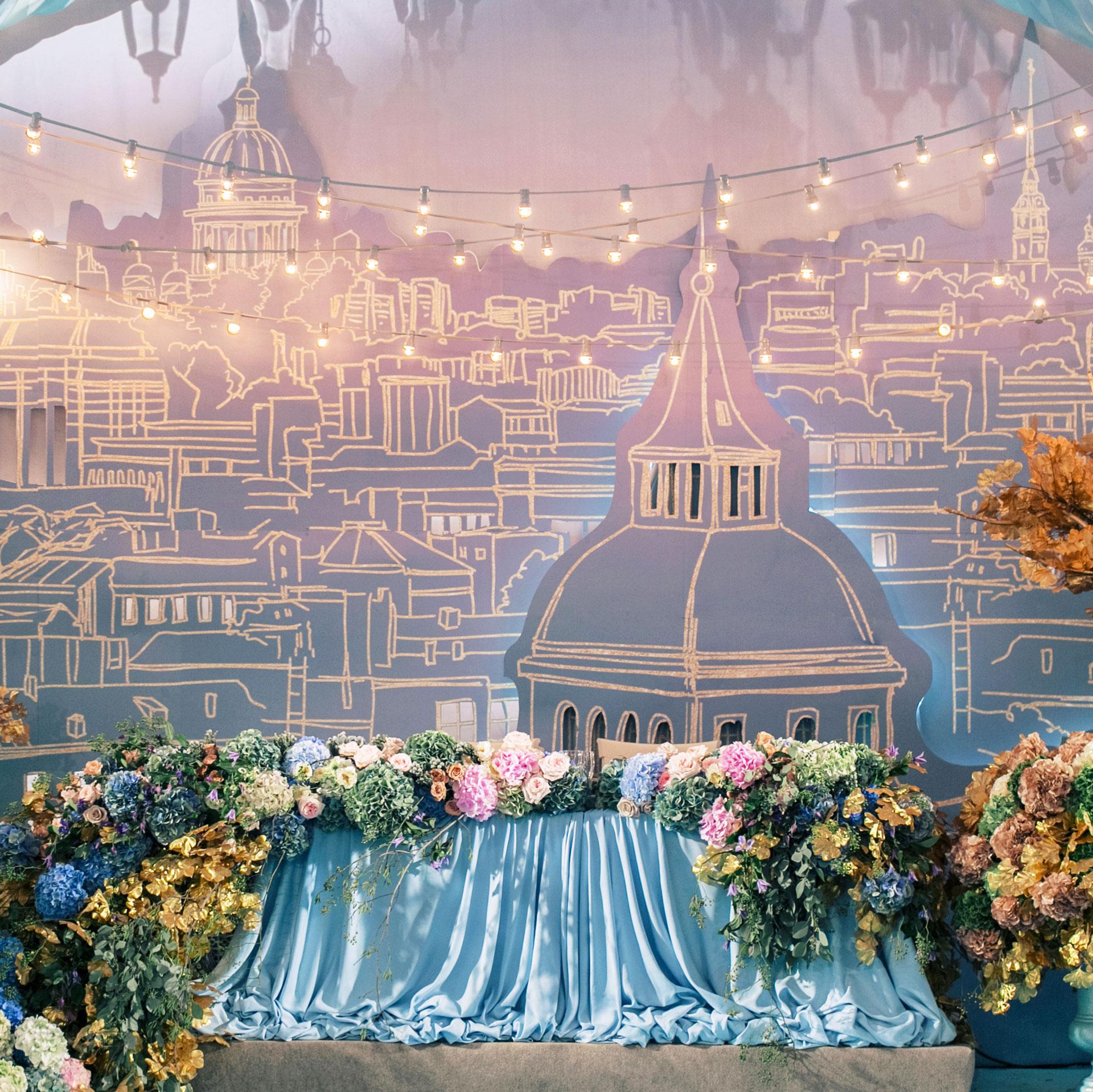 нежные оттенки свадебного декора фото 1
