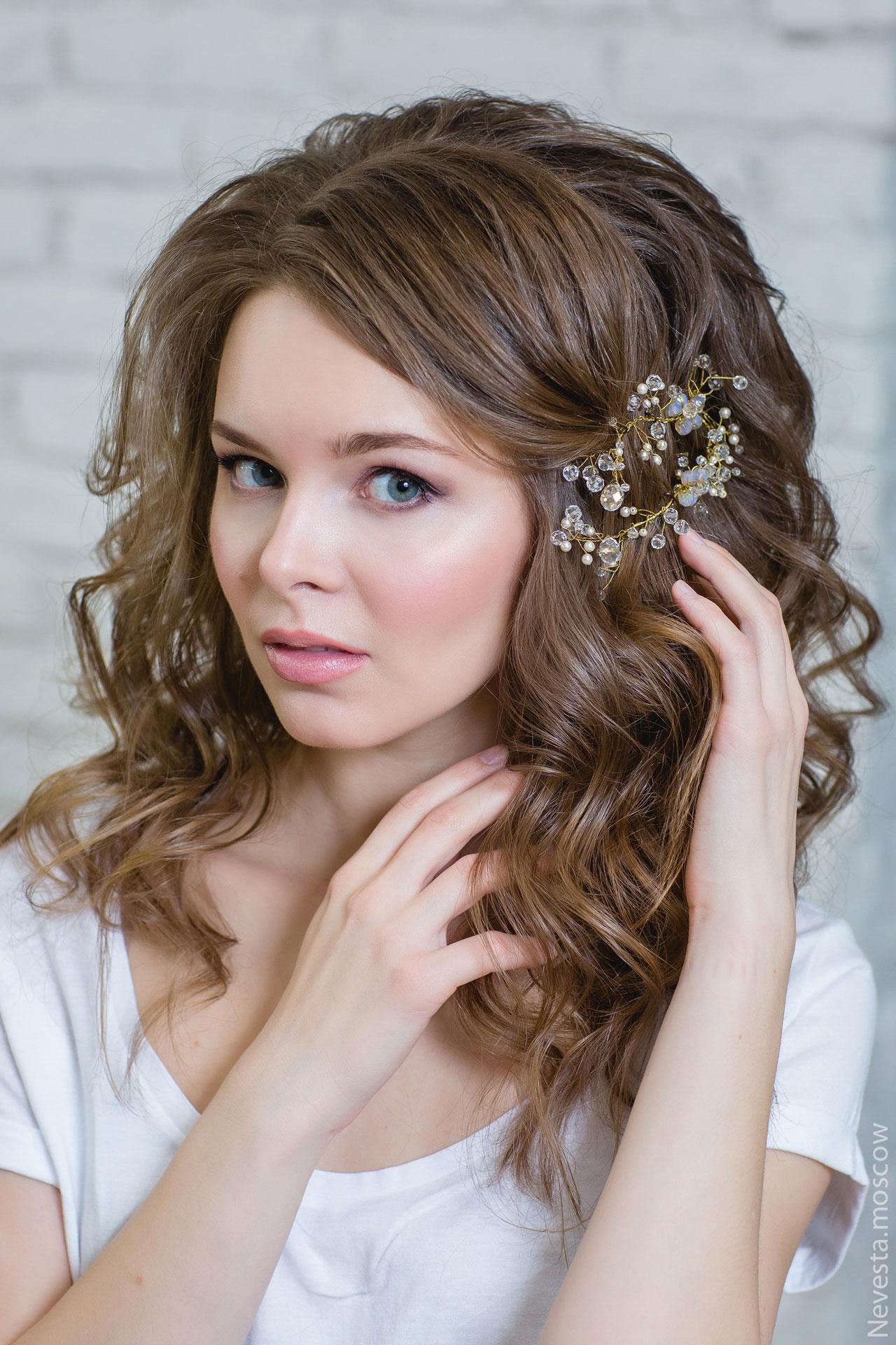 свадебная прическа и макияж фото 1