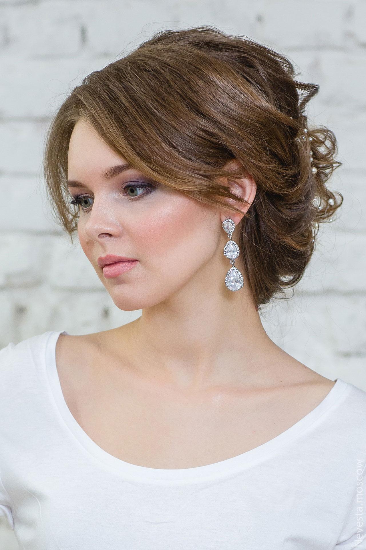 свадебная прическа и макияж фото 2