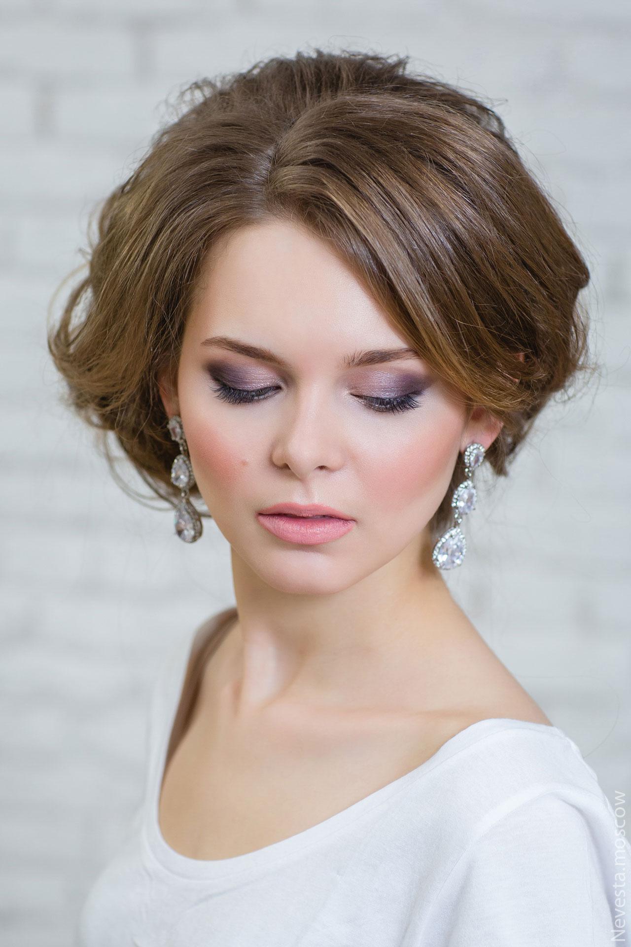 свадебный макияж акцент на глаза