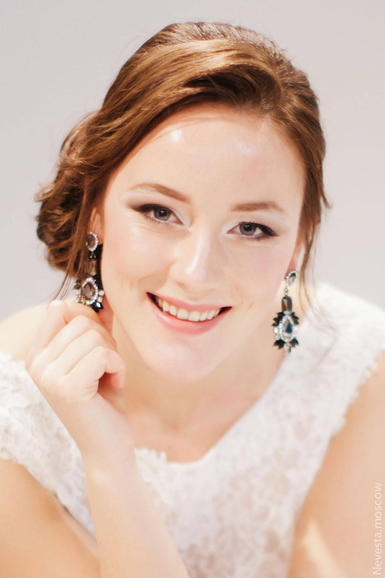 Макияж и прическа невесты фото 1