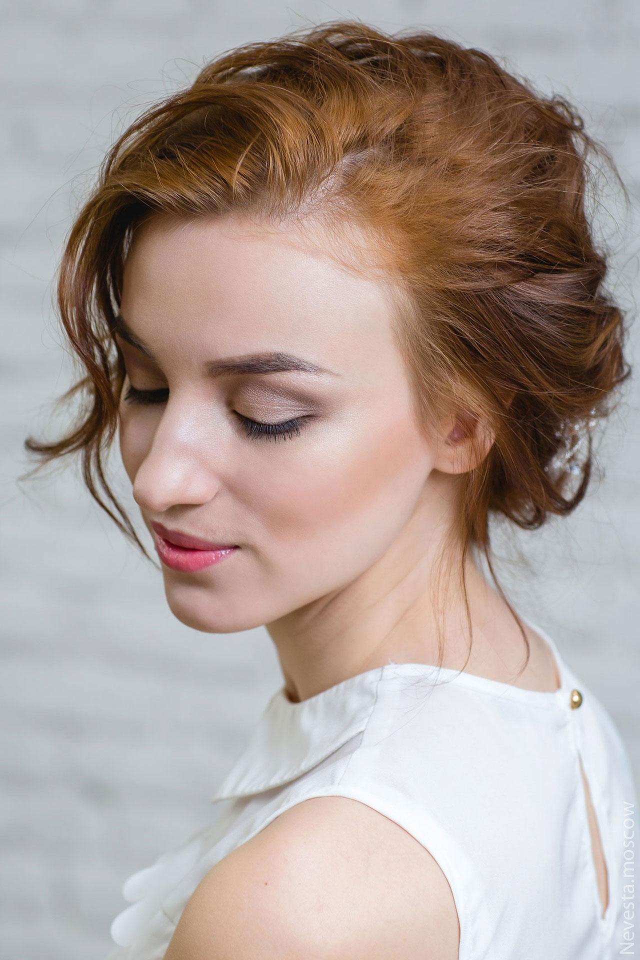 тени нейтрального оттенка макияж невесты