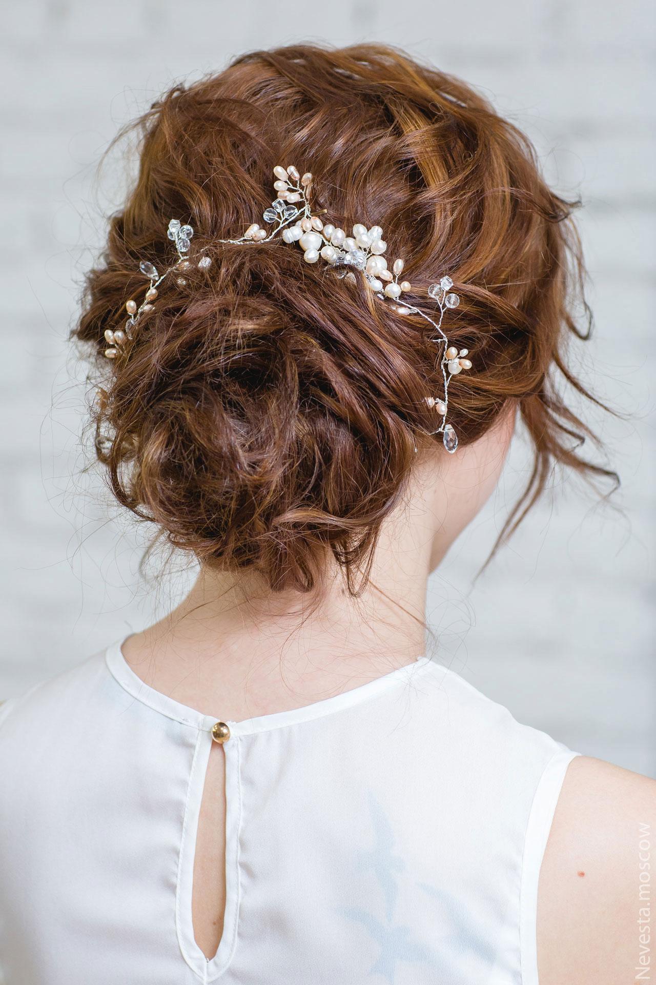 текстурный пучок свадебный образ